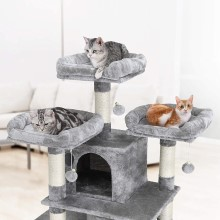 Feandrea Cat Condo Tower for large cats, cat tower and condo, cat tree with cat beds and scratching posts