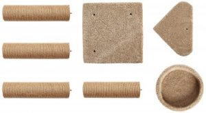 AmazonBasics Cat Activity Tree assembly parts, cat tree, cat condo