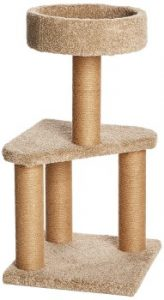 AmazonBasics Cat Activity Tree with Scratching Posts, cat tower, cat tree