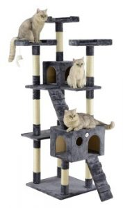Go Pet Club 72 inch cat tree, cat gym, cat scratching posts