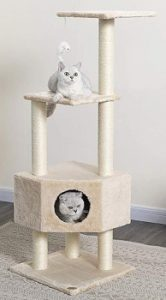 Go Pet Club Cat Tree Condo Beige Color, cat tower, cat bed